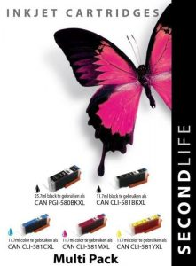 Second Life Multipack Canon 580/581 serie Inkt Cartridge