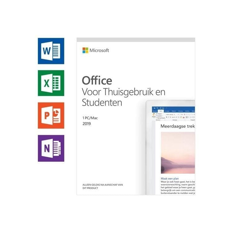 Microsoft Office 2019 Thuisgebruik & Student Software