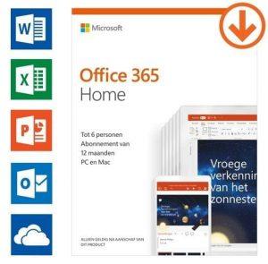 Microsoft Office 365 Home 6-PC/MAC 1 jaar