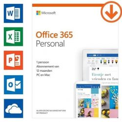Microsoft Office Office 365 personal 1-pc/mac 1 jaar Software