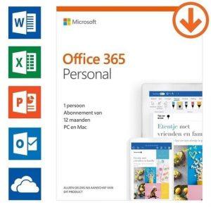 Microsoft Office Office 365 personal 1-pc/mac 1 jaar Software