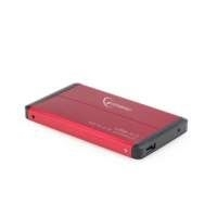"Gembird EE2-U3S-2-R behuizing voor opslagstations 2.5"" HDD-behuizing Rood"