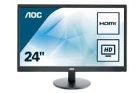 "AOC Value-line E2470SWH LED display 59,9 cm (23.6"") Full HD LCD Flat Mat Zwart"