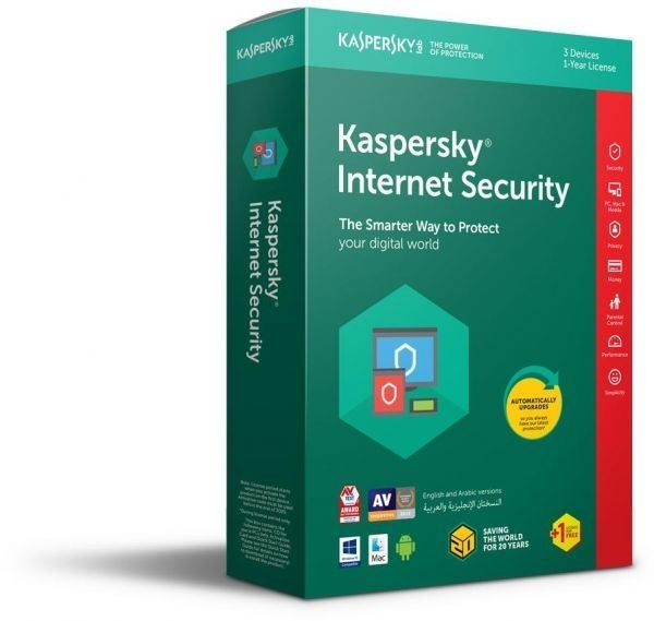 Kaspersky Internet Security Multi device – 3 devices 1 jaar