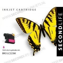 Second Life Brother LC 223 Magenta Inkt Cartridge