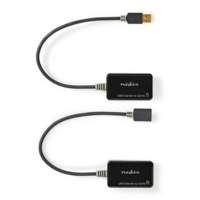 Nedis CCBW60EXTBK500 kabeladapter/verloopstukje USB A RJ45 Zwart