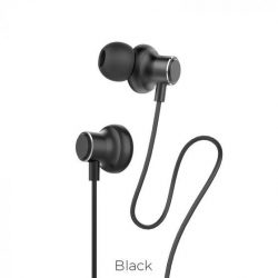 Hoco Magic Sound black wired earphones with microphone Oordopjes